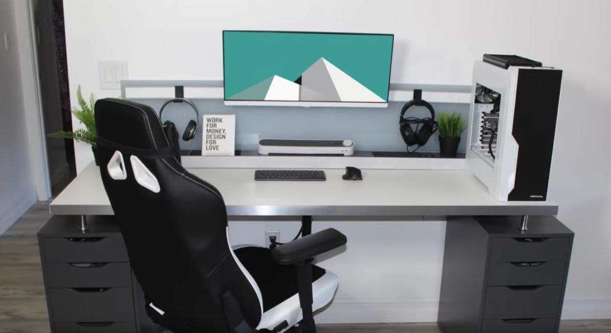 under desk cable management setup 2